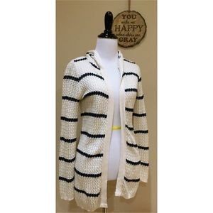 Sweaters - Like New! Hooded Open Style Long Cardigan S